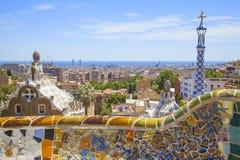 Park Guell in Barcelona stockbild