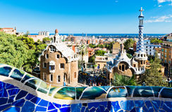 Park Guell in Barcelona Stockbild