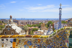 Park guell in barcelona. Beautiful park guell in the city of barcelona Stock Image