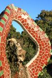 Park Guell. In Barcelona, Catalonia, Spain royalty free stock images