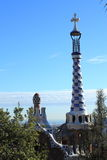 Park Guell. In Barcelona, Catalonia, Spain royalty free stock photography