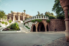 Park Guell in Barcelona. Catalonia, Spain Stock Image