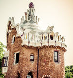 Park Guell in Barcelona. Catalonia, Spain Royalty Free Stock Photography