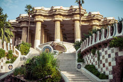 Park Guell in Barcelona. Catalonia, Spain Royalty Free Stock Image