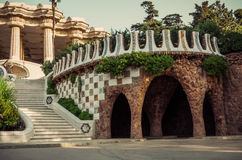 Park Guell in Barcelona. Catalonia, Spain Royalty Free Stock Images