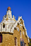 Park Guell. Barcelona, Catalonia, Spain. House at entrance of Park Guell. Designed by Antoni Gaudi architect. Barcelona, Catalonia, Spain, Europe Royalty Free Stock Photo