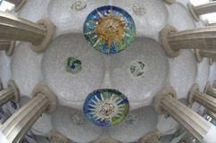 Park Guell Barcelona. Gaudi architecture in park Guell in Barcelona Stock Image