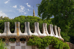 Park Guell. Barcelona landmark, Spain. Royalty Free Stock Image