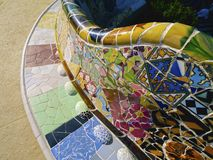 Park Guell in Barcelona Stock Images