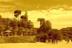 Park Guell,Barcelona Stock Images