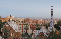Park Guell Barcelona. Barcelona skyline view from park guell, Barcelona Royalty Free Stock Image