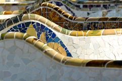 Park Guell Barcelona Spain Stock Photos