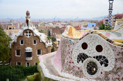 Park Guell in Barcelona, Spain Royalty Free Stock Image