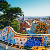 Park Guell, Barcelona - Spain. Park Guell was commissioned by Eusebi Güell and designed by Antonio Gaud stock image