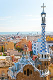 Park Guell in Barcelona, Spain. View of Barcelona from Park Guell in Barcelona, Spain Royalty Free Stock Photography