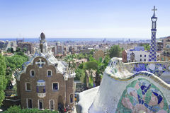 Park Guell, Barcelona, Spain Stock Photo