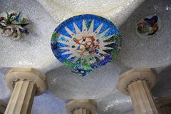 Park Guell in Barcelona, Spain. Famous Park Guell in Barcelona, Catalonia, Spain Stock Photography