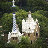Park guell. In barcelona spain Royalty Free Stock Photography