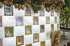 Park guell. In barcelona spain Stock Images