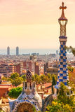 Park Guell in Barcelona. Royalty Free Stock Images