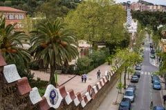 Park Guell in Barcelona Stock Photos