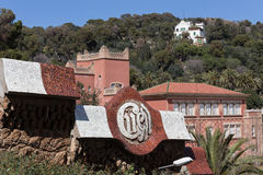 Park guell barcelona spain Royalty Free Stock Image