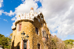 Park Guell in Barcelona, Spain. Royalty Free Stock Image