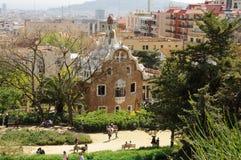 Park Guell, Barcelona Spain. Antoni Gaudis Park Guell, Barcelona Spain Royalty Free Stock Image