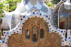 Park Guell, Barcelona, Spain. View of Parc Guell in Barcelona, Spain Royalty Free Stock Images
