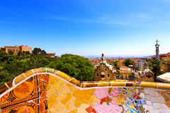 Park Guell - Barcelona Spain Stock Photography
