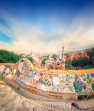 Park Guell in Barcelona, Spain. The famous park Guell in Barcelona, Spain stock image