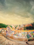 Park Guell in Barcelona, Spain. The famous park Guell in Barcelona, Spain royalty free stock photos