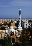 Park Guell, Barcelona - Spain. Park Guell is a garden complex with architectural elements situated on the hill of El Carmel in the Gracia district of Barcelona Royalty Free Stock Photo