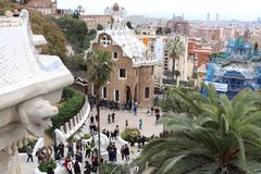 Park Guell, Barcelona, Spain Royalty Free Stock Photos