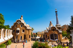 Park Guell - Barcelona Spain Stock Photo