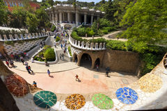 Park Guell - Barcelona Spain Royalty Free Stock Photography