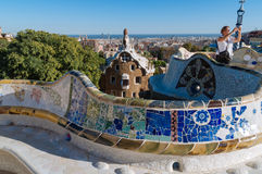 Park Guell, Barcelona. stock photo