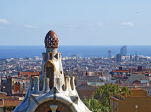Park Guell in Barcelona, Spain Stock Photos