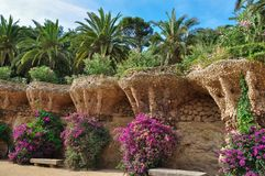 Park Guell, Barcelona, Spain. Park Guell in Barcelona, Spain Stock Images