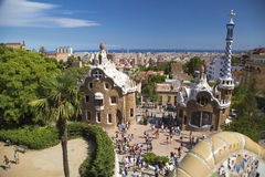 Park Guell in Barcelona, Spain. It is part of the UNESCO World Heritage Site Works of Antoni Gaudi Stock Images