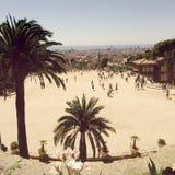 Park Guell in Barcelona, Spain. Stock Photos