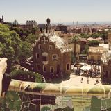 Park Guell in Barcelona, Spain. Royalty Free Stock Photos