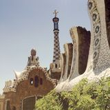 Park Guell in Barcelona, Spain. Stock Photos