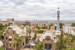 Park Guell, Barcelona. Park Guell in Barcelona of Spain, summer Royalty Free Stock Image