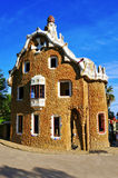Park Guell in Barcelona, Spain. View of the guardhouse in the Park Guell in Barcelona, Spain royalty free stock images