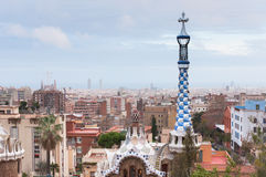 Park Guell in Barcelona, Spain. Park Guell was designed by the Catalan architect Antoni Gaudi Royalty Free Stock Photos