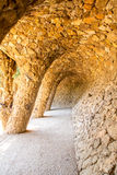 Park Guell, Barcelona Spain. Wave Archway, Park Guell, Barcelona Spain royalty free stock photo