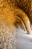 Park Guell, Barcelona Spain. Wave Archway, Park Guell, Barcelona Spain Royalty Free Stock Images