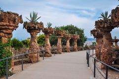 Park Guell, Barcelona, Spanien stockbild