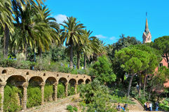 Park Guell, Barcelona, Spanien Lizenzfreie Stockfotos